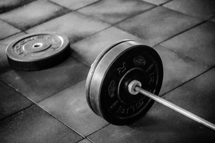 Skivstång med vikter