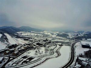 Pyeongchang i Sydkorea.